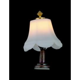 Stolní lampa, bílé stínítko, 12V