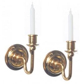Nástěnné svícny, nefunkční, set 2ks