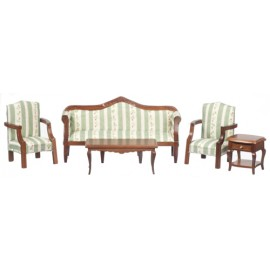 Obývak nábytek, set 5ks, ořech