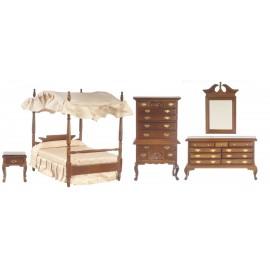 Ložnice nábytek, set 5ks ořech