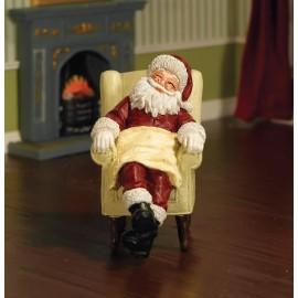 Spící Santa v křesle