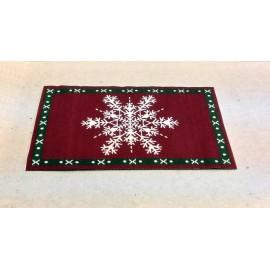 Vánoční koberec s vločkou