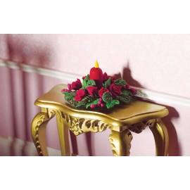 Vánoční věnec na stůl, červený