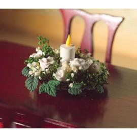 Vánoční věnec na stůl, bílý