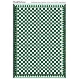 Dlažba zeleno-bílá, lesklá