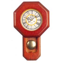 Nástěnné dřevěné  hodiny s kyvadlem