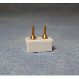 Zásuvka na měděné pásky delší hřebíčky (4ks)