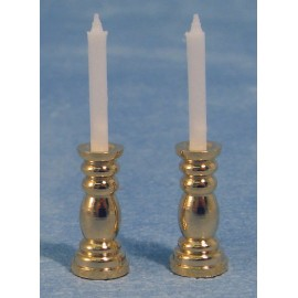Svícen se svíčkou, 2ks