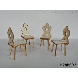 Selské židle, 4ks