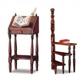 Schůdka a řečnický stolek