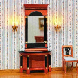 Zrcadlo se stolkem ve stylu Biedermeier