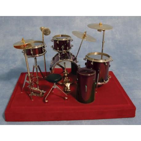 Luxusní bicí souprava červená