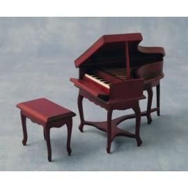 Klavír se stoličkou, mahagon