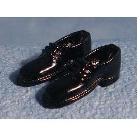 """Černé pánské boty, """"lakýrky"""""""