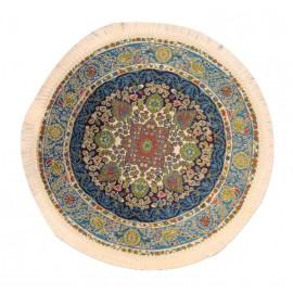 Kruhový modrý koberec