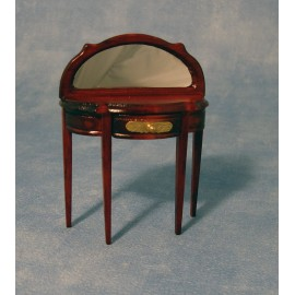 Půlkruhový stolek se zrcadlem, mahagon