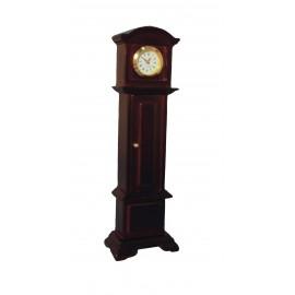 Stojací hodiny (funkční), mahagon