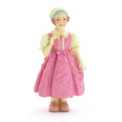Dívka v růžových šatech