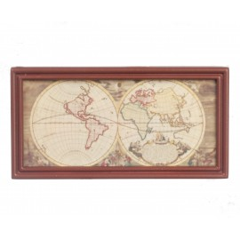 Mapa ve dřevěném rámu