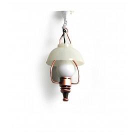 Bronzová stropní olejová lampa