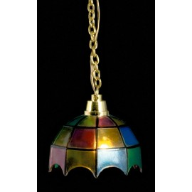Stropní lampa Tiffany, barevná, 12V