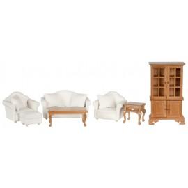Obývák nábytek, set 7ks, ořech