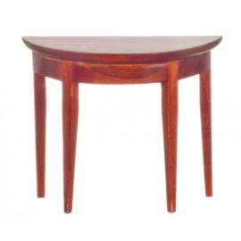 Půlkulatý stolek, mahagon