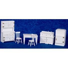 Kuchyně nábytek, set 6 ks, bílý