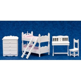 Dětský pokoj, set, 5ks, bílá
