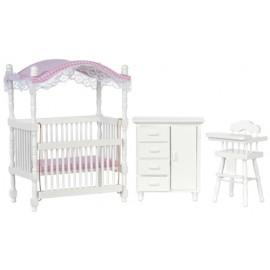 Dětský pokoj nábytek, set 3ks, bílá