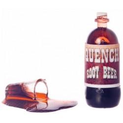 Vylité pivo a láhev