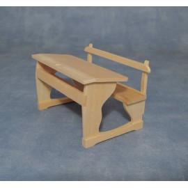 Školní lavice, bez povrchové úpravy