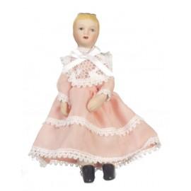 Figurka dívky, porcelánová