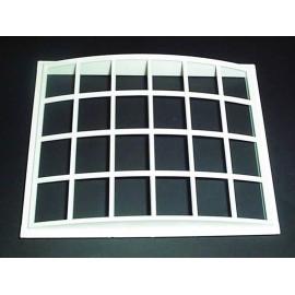 Bílé plastové Georgiánské oblé okno (rozměr otvoru pro okno)