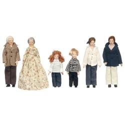 Figurky rodina, 6 postav