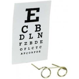 Brýle a testovací tabulka