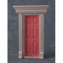 Dveře s rámem, barva růžová