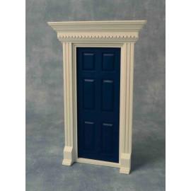 Dveře s rámem, barva modrá