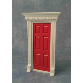 Dveře s rámem, barva červená