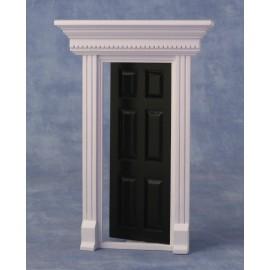 Dveře s rámem, barva černá