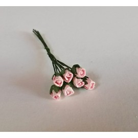 Květiny světle růžová růže, 7ks růží
