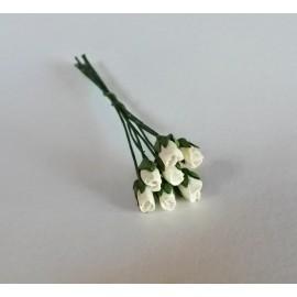 Květiny bílé růže, 7ks růží
