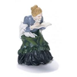 Sedící madam s knihou