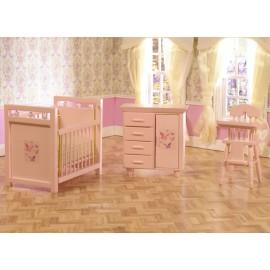 Růžový dětský pokojíček, sada 3ks