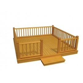 Dřevěný terasa
