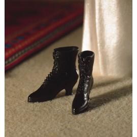 Viktoriánské černé boty, pár