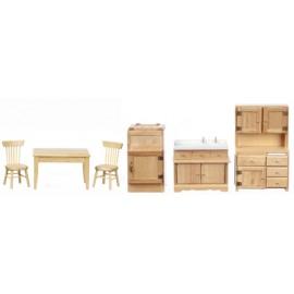 Kuchyně nábytek, set 6 ks, dub