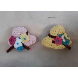 Háčkované klobouky, 2ks