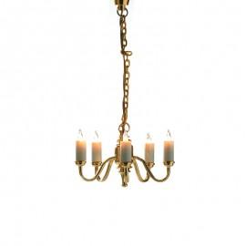 Pětiramenný lustr.svíčky, 12V