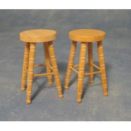 Barové stoličky, 2ks, bez povrchové úravy